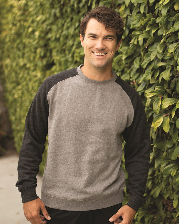 Fitted Raglan Sweatshirt-Independent Trading Co.-Pacific Brandwear