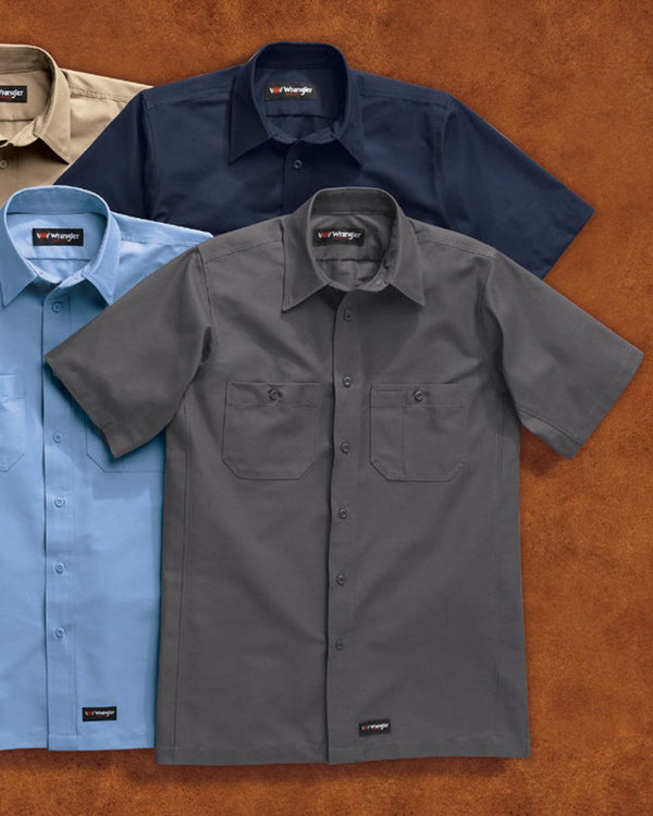Short sleeve Work Shirt Tall Sizes-Wrangler-Pacific Brandwear