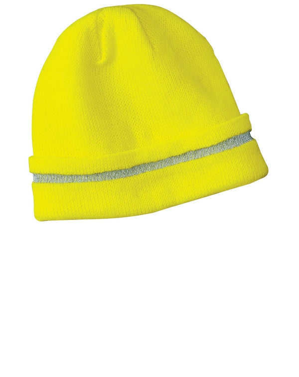 CornerStone® - Enhanced Visibility Beanie with Reflective Stripe-CornerStone-Pacific Brandwear