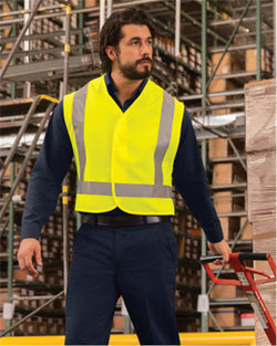 High Visibility Safety Vest-Red Kap-Pacific Brandwear