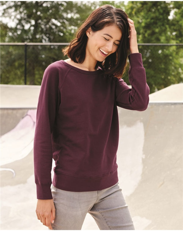 JuniorsÍ Heavenly Fleece Lightweight SweatShirt-Independent Trading Co.-Pacific Brandwear