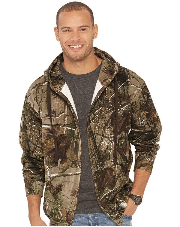 Adult Realtree Camo Zip Fleece Hoodie-Code Five-Pacific Brandwear
