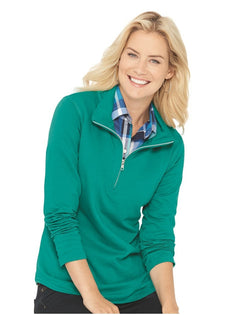 Women's Quarter Zip French Terry Pullover-LAT-Pacific Brandwear