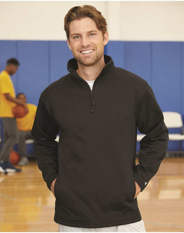 Performance Fleece Quarter-Zip Pullover-Badger-Pacific Brandwear