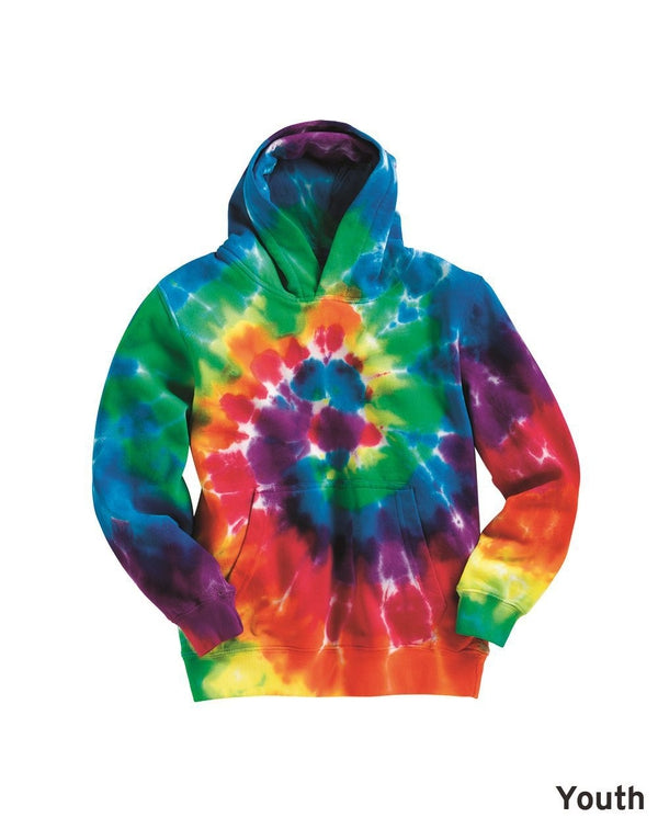 Youth Multi-Color Swirl Hooded Sweatshirt-Dyenomite-Pacific Brandwear