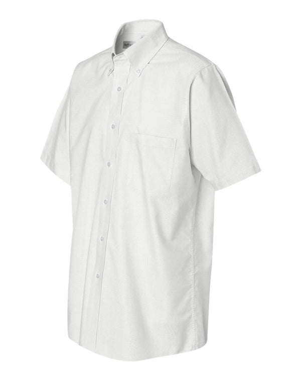 Van Heusen Short Sleeve Oxford Shirt-Van Heusen-Pacific Brandwear