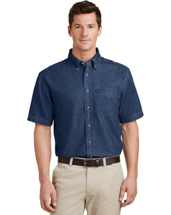 Port & Company® - Short Sleeve Value Denim Shirt-Port & Company-Pacific Brandwear
