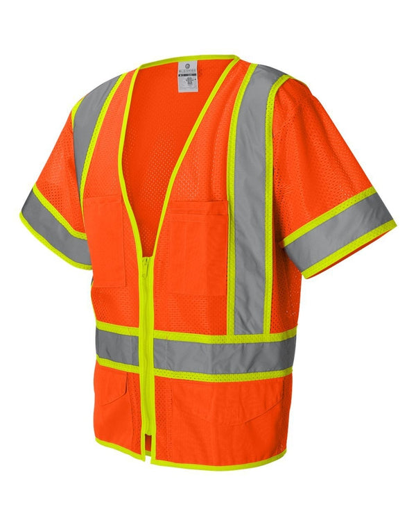 Ultra-Cool Six-Pocket Mesh Surveyor's Vest-ML Kishigo-Pacific Brandwear