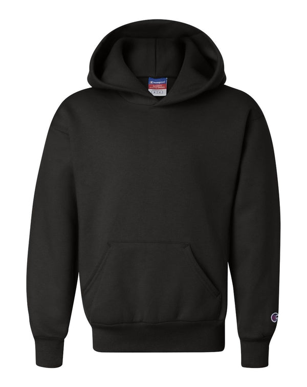 Double Dry Eco Youth Hooded SweatShirt-Champion-Pacific Brandwear