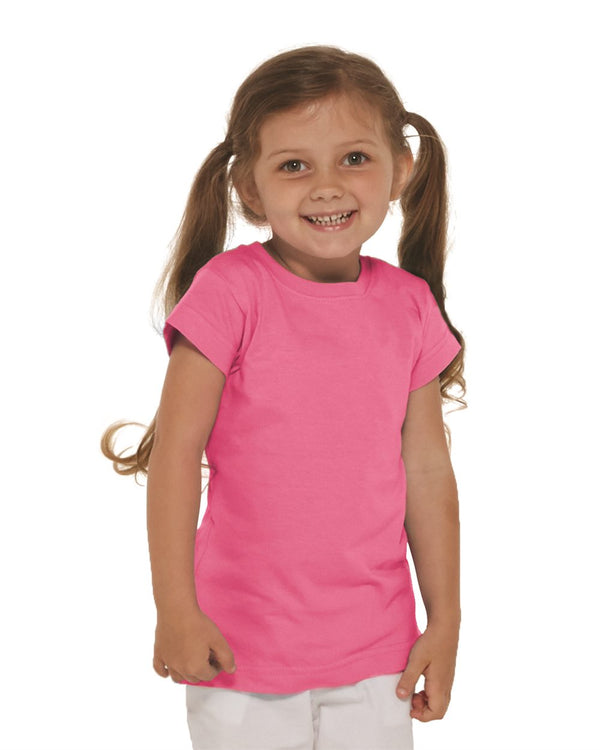 Toddler Girls Fine Jersey Tee-Rabbit Skins-Pacific Brandwear