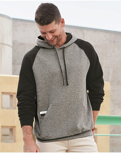 Nublend Colorblocked Raglan Hooded SweatShirt-JERZEES-Pacific Brandwear