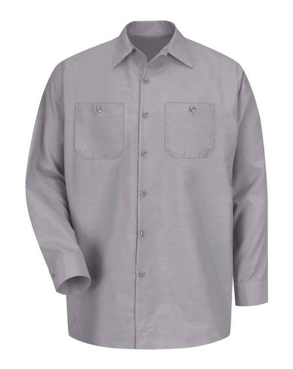 Red Kap Industrial Long Sleeve Work Shirt-Red Kap-Pacific Brandwear