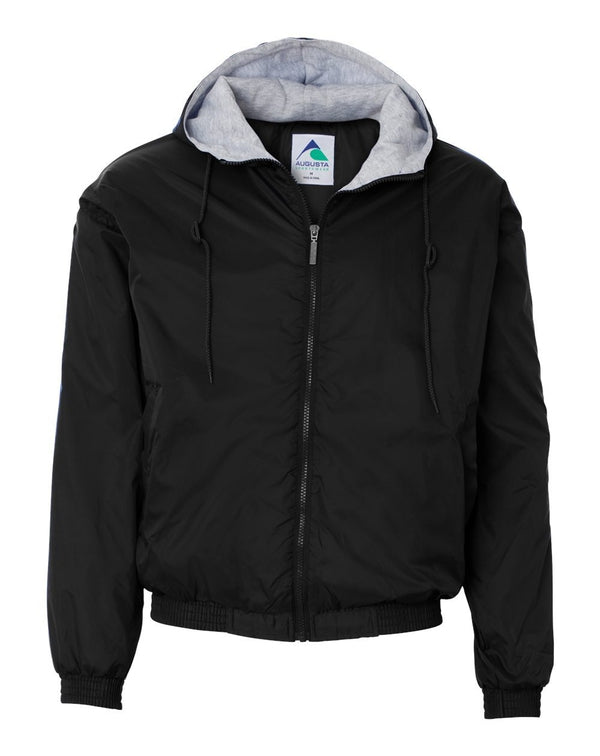 Fleece Lined Hooded Jacket-Augusta Sportswear-Pacific Brandwear