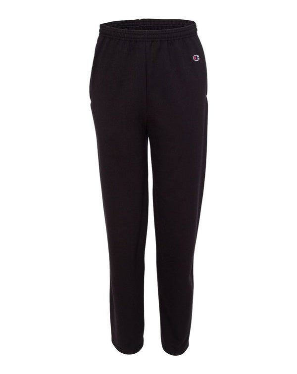 Double Dry Eco Open Bottom Sweatpants with Pockets-Champion-Pacific Brandwear