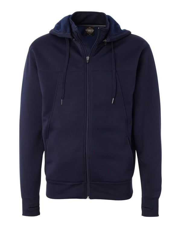 Poly-Tech Full-Zip Hooded Sweatshirt-Independent Trading Co.-Pacific Brandwear