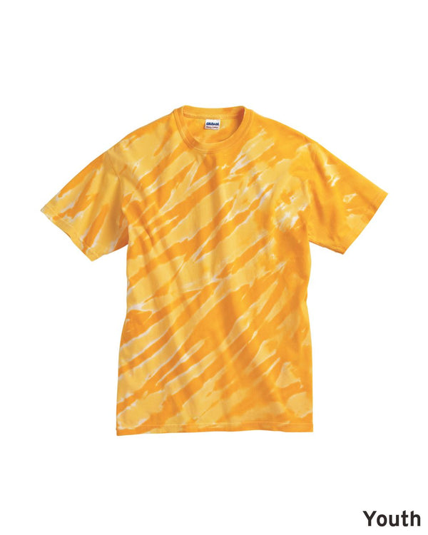 Youth One Color Tiger Stripe T-Shirt-Dyenomite-Pacific Brandwear