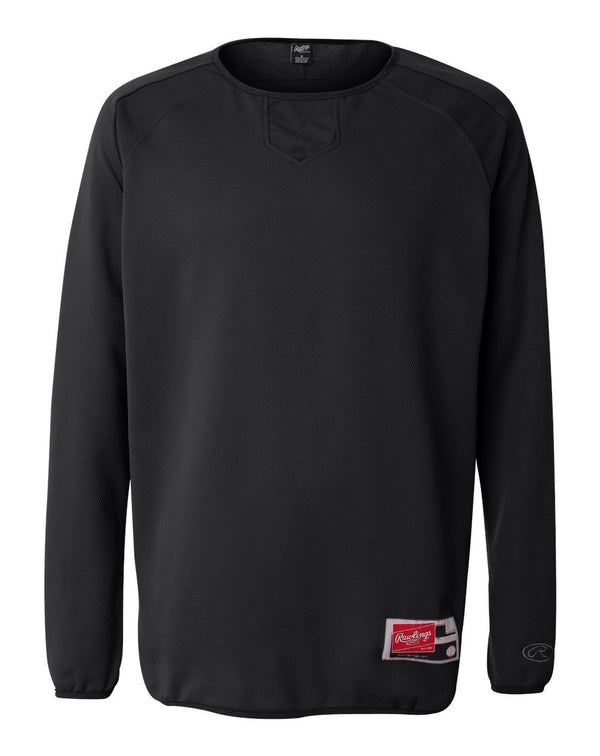 Flatback Mesh Fleece Long sleeve Pullover-Rawlings-Pacific Brandwear