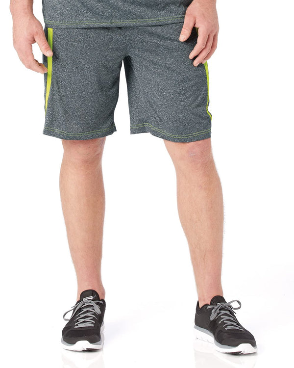 "Pro Heather Fusion 10"" Inseam Shorts-Badger-Pacific Brandwear"