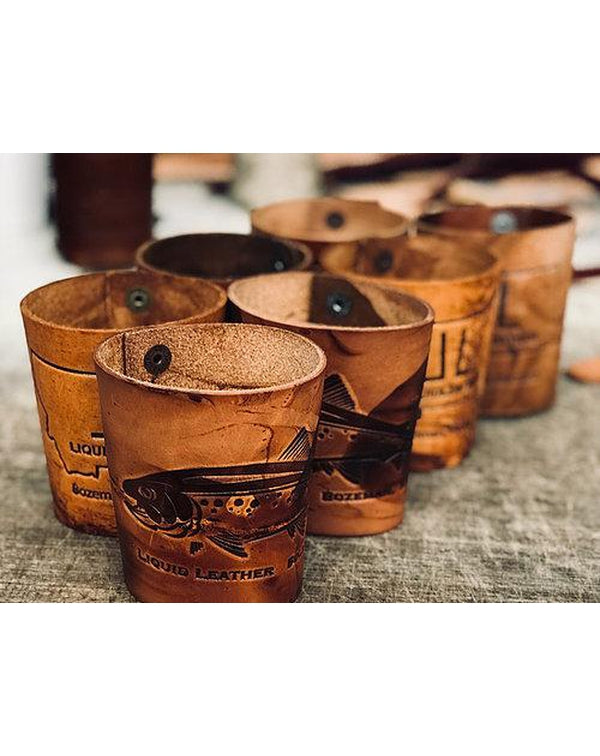 American Handmade Leather Can Koozies & Flasks-Pacific Brandwear-Pacific Brandwear