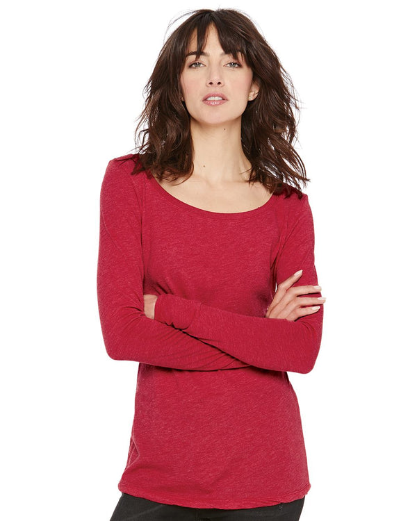 Women's Triblend Long sleeve Scoop-Next Level-Pacific Brandwear