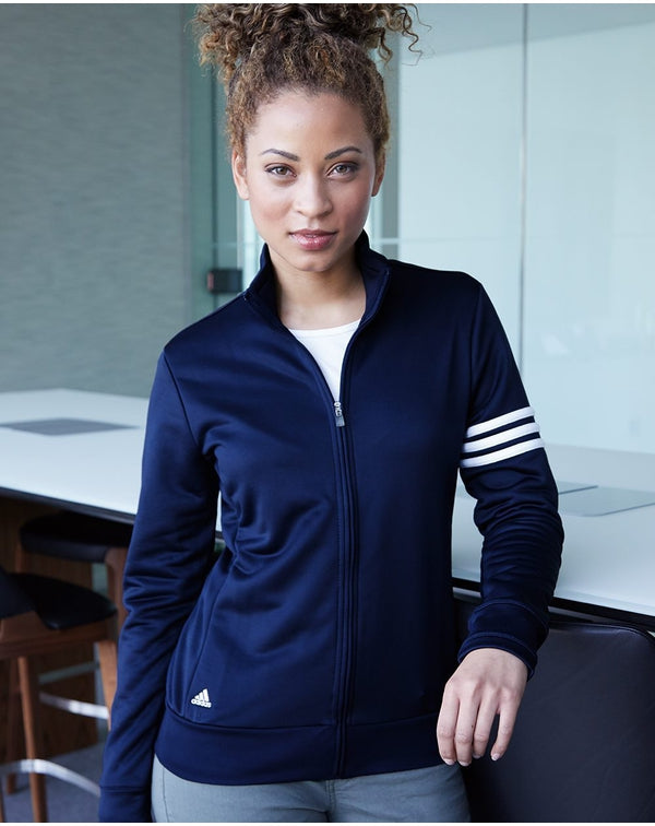 Women's ClimaLite 3-Stripes French Terry Full-Zip Jacket-Adidas-Pacific Brandwear