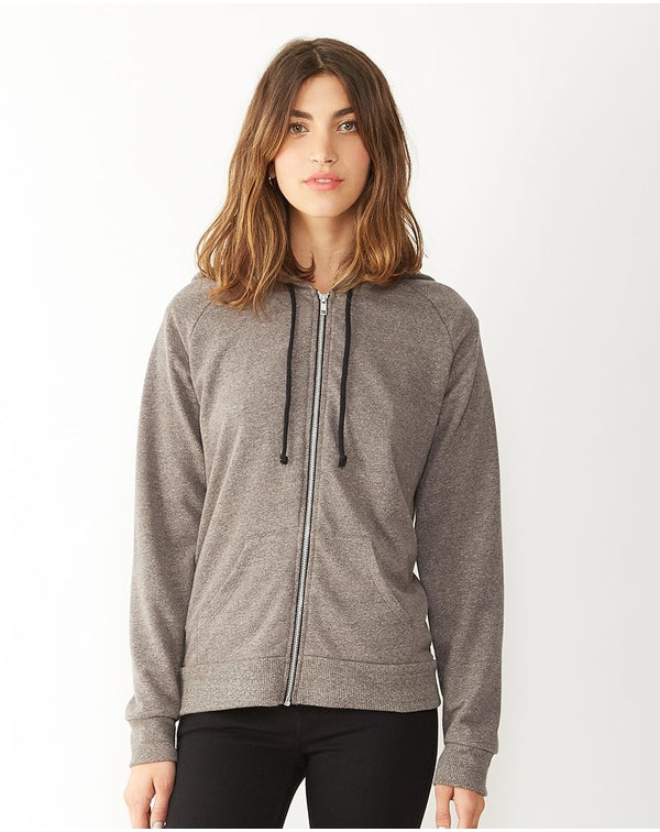 Women's Eco-Mock Twist Adrian Hooded Full-Zip Sweatshirt-Alternative Apparel-Pacific Brandwear