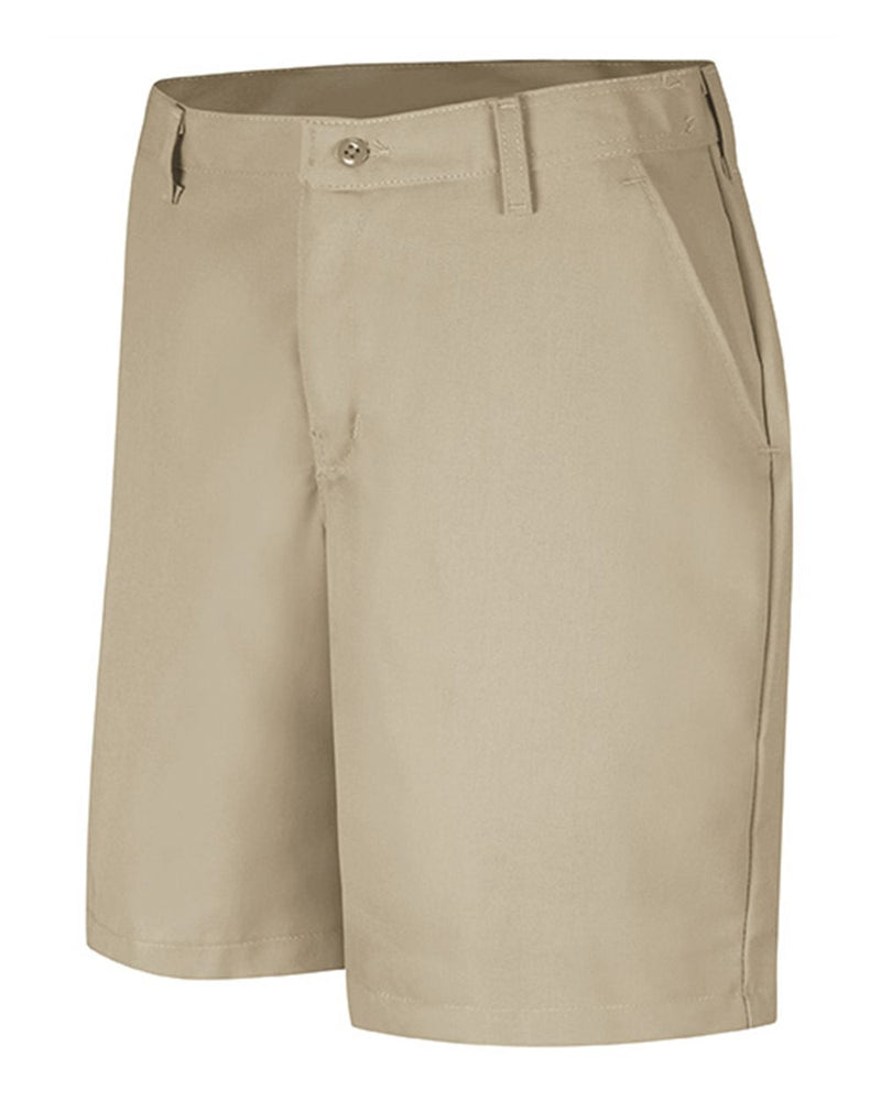 Women's Plain Front Shorts, 8 Inch Inseam-Red Kap-Pacific Brandwear