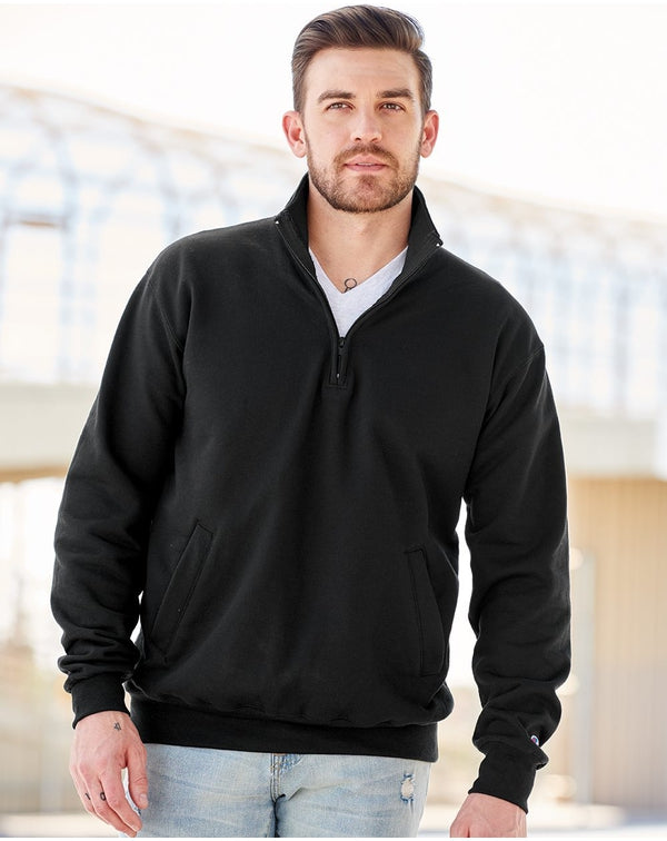 Double Dry Eco Quarter-Zip Pullover-Champion-Pacific Brandwear