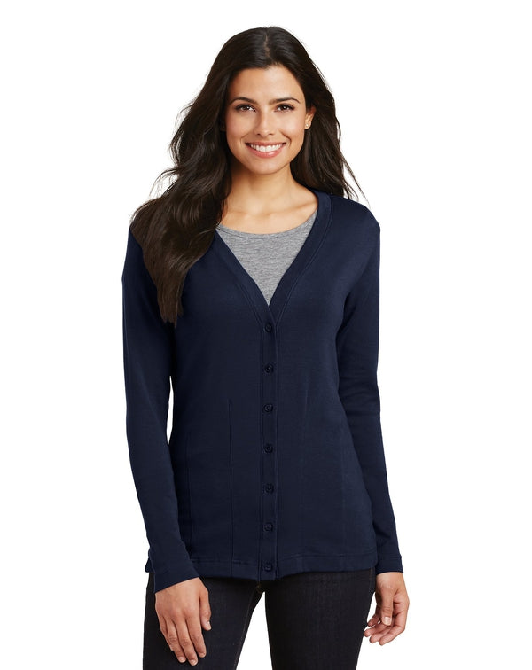 Port Authority® Ladies Modern Stretch Cotton Cardigan-Port Authority-Pacific Brandwear