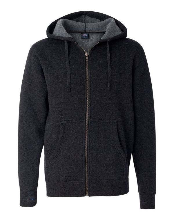Super Heavyweight Full-Zip Hooded Sweatshirt-Independent Trading Co.-Pacific Brandwear