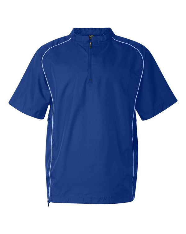Short sleeve Poly Dobby Quarter-Zip Pullover-Rawlings-Pacific Brandwear