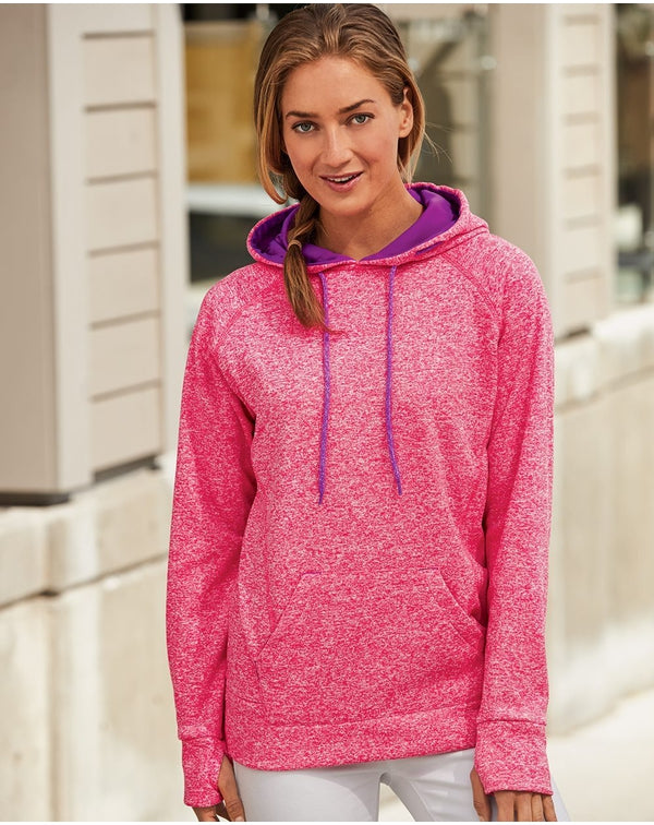 Women's Cosmic Fleece Hooded Sweatshirt-J. America-Pacific Brandwear