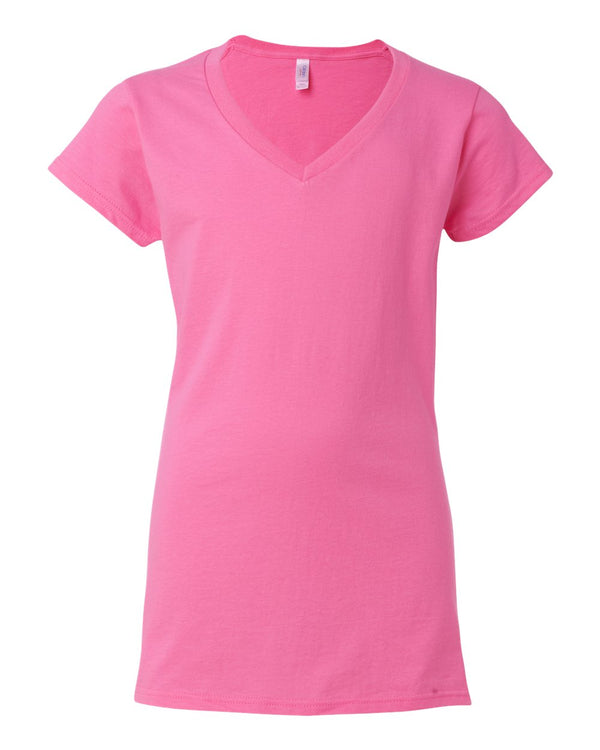 Softstyle Women's V-Neck T-Shirt-Gildan-Pacific Brandwear