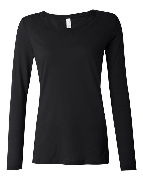 Women's Featherweight Long sleeve Scoop T-Shirt-Anvil-Pacific Brandwear
