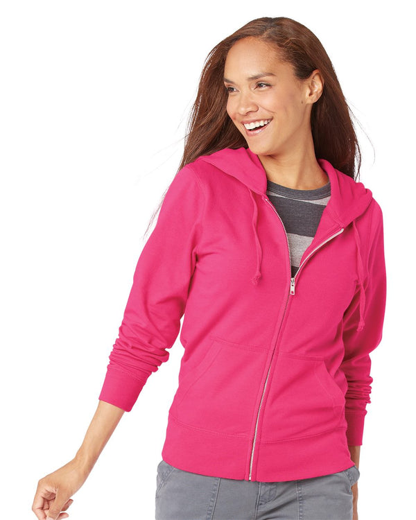 Women's Zip French Terry Hoodie-LAT-Pacific Brandwear