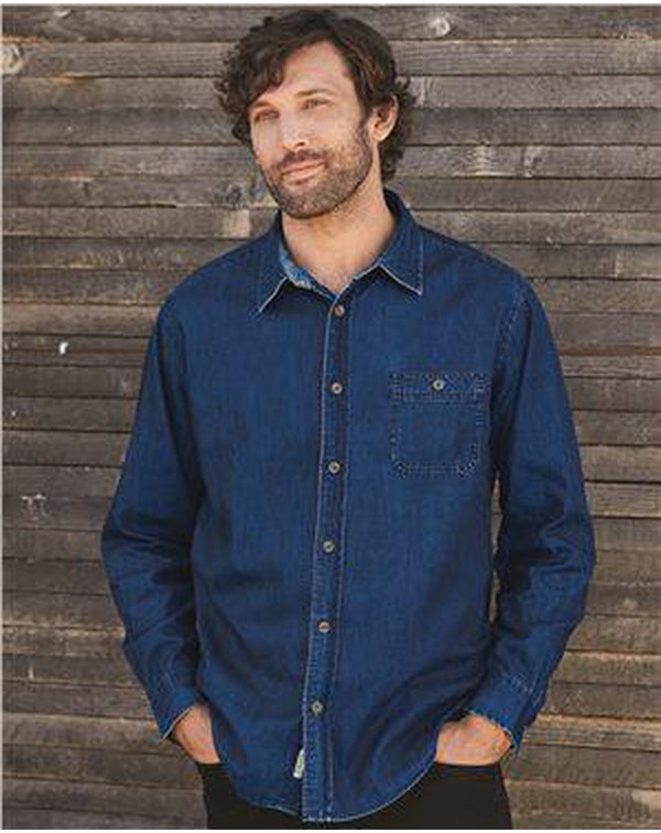 Vintage Denim Long Sleeve Shirt-Weatherproof-Pacific Brandwear