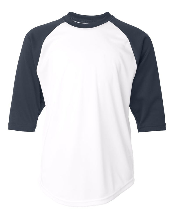 Youth B-Core 3/4 sleeve Baseball T-Shirt-Badger-Pacific Brandwear