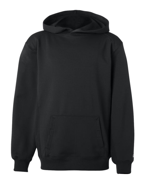 Youth Performance Fleece Hooded SweatShirt-Badger-Pacific Brandwear