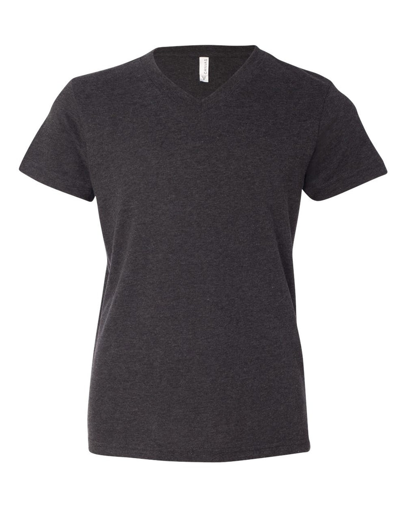 Youth V-Neck Jersey Tee-BELLA + CANVAS-Pacific Brandwear