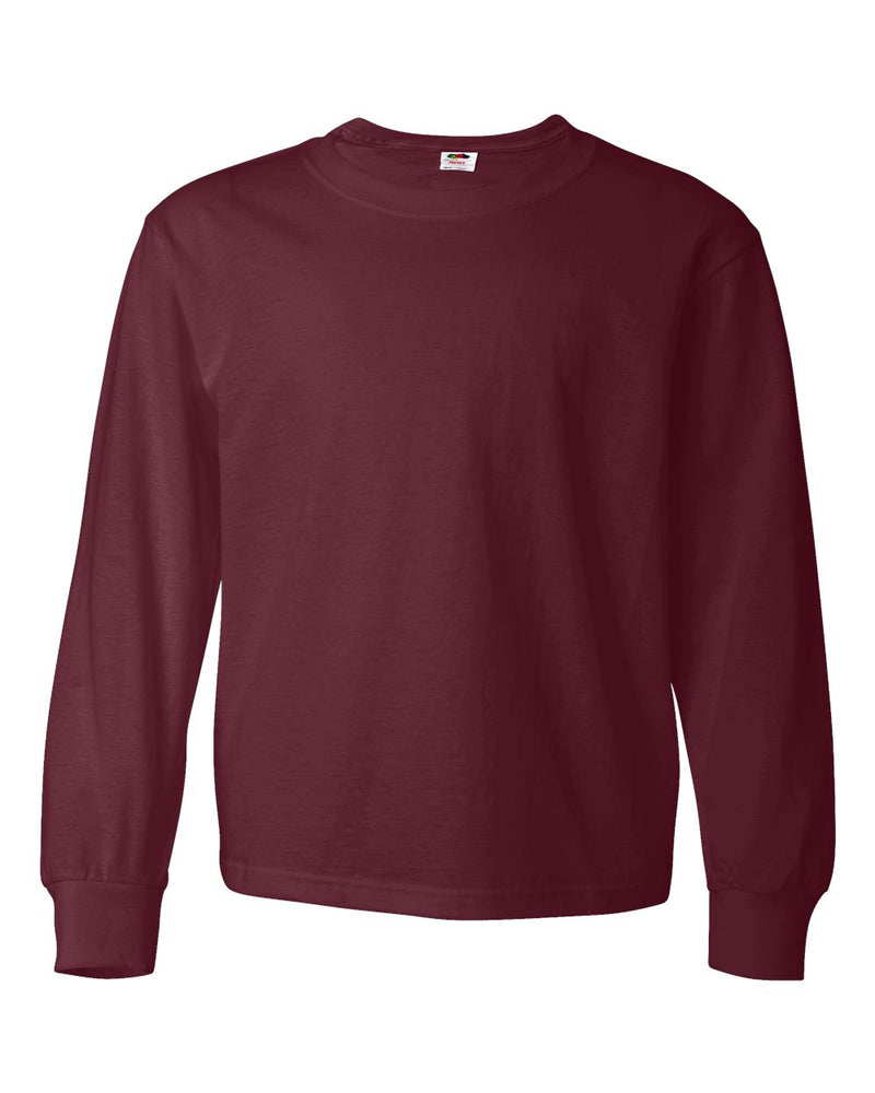 HD Cotton Youth Long sleeve T-Shirt-Fruit of the Loom-Pacific Brandwear