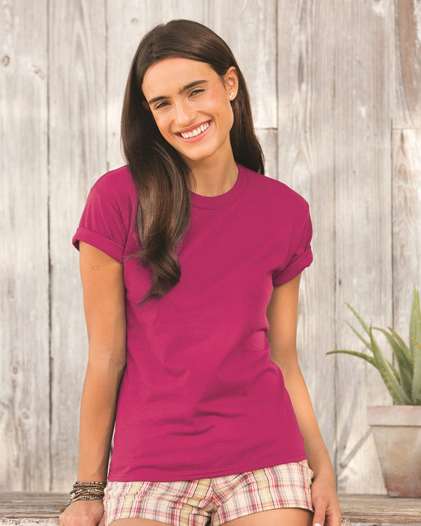Sofspun Women's Crewneck T-Shirt-Fruit of the Loom-Pacific Brandwear