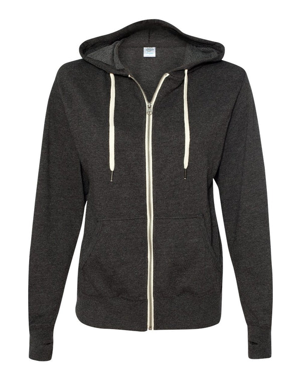 Unisex Heathered French Terry Full-Zip Hooded Sweatshirt-Independent Trading Co.-Pacific Brandwear