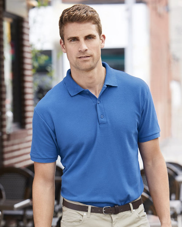 Premium Cotton Double Pique Sport Shirt-Gildan-Pacific Brandwear
