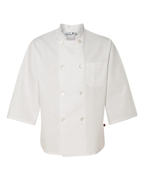 Three-Quarter sleeve Chef Coat-Chef Designs-Pacific Brandwear