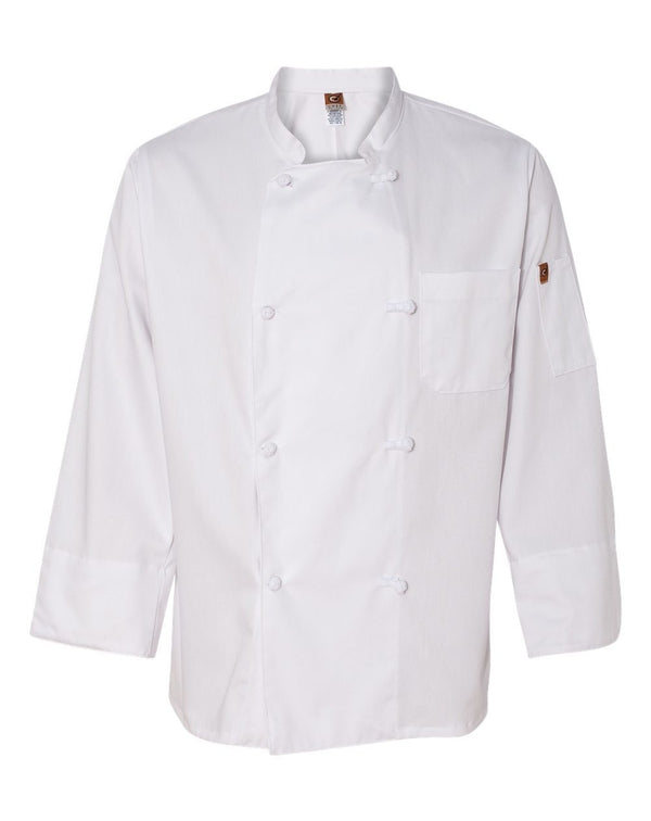 100% Cotton Chef Coat-Chef Designs-Pacific Brandwear
