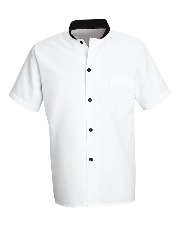 Chef Designs Black Trim Cook Shirt-Chef Designs-Pacific Brandwear
