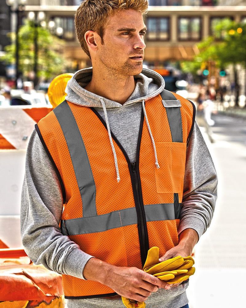 Class 2 Economy Vest with Zippered Front-ML Kishigo-Pacific Brandwear