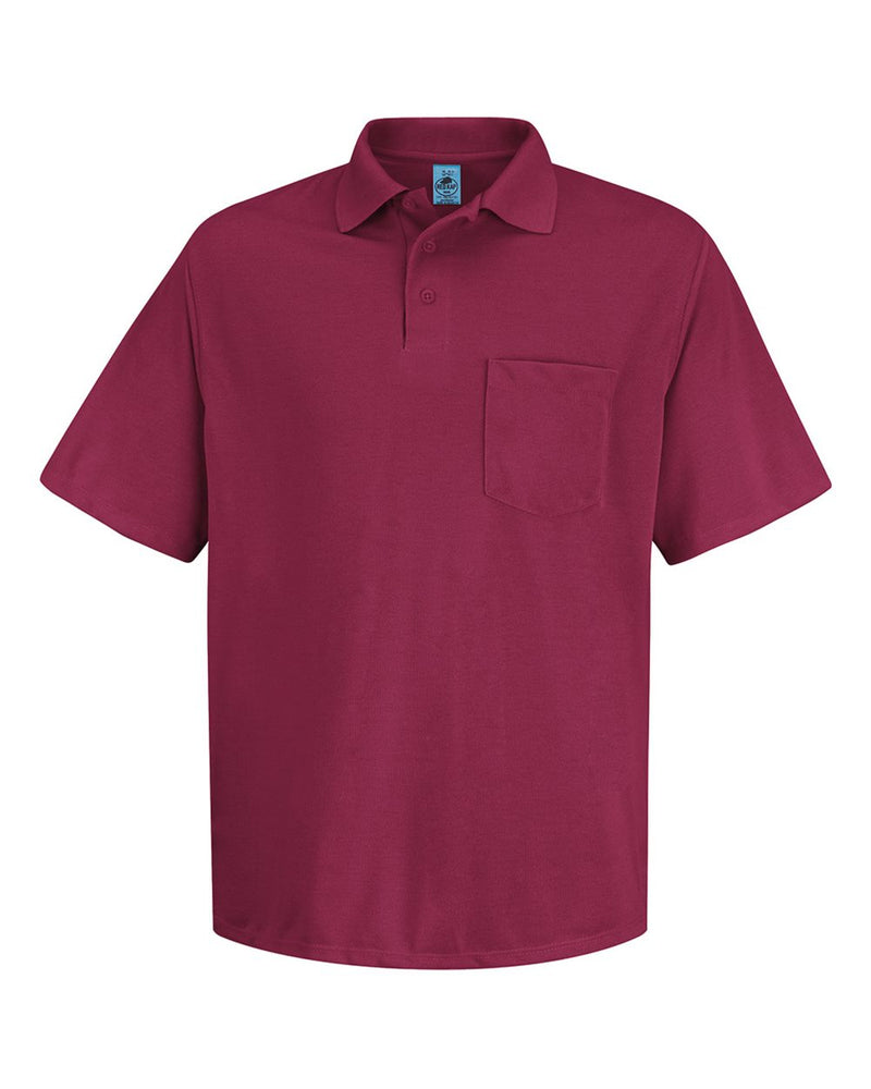 Performance Knit Polyester Solid Shirt-Red Kap-Pacific Brandwear