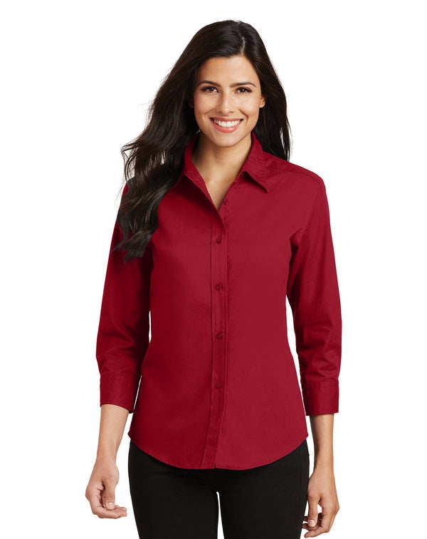 Port Authority® Ladies 3/4-Sleeve Easy Care Shirt-Port Authority-Pacific Brandwear