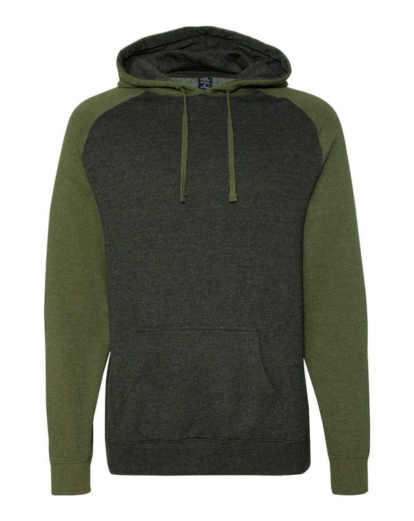 Raglan Hooded Sweatshirt-Independent Trading Co.-Pacific Brandwear